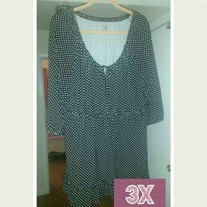 3x George black & white blouse